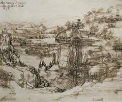 A landscape drawing by the Italian master artist, Leonardo da Vinci, will go on display in his native Tuscan town in commemoration of the 500th year since his death http://buff.ly/2bwZKaP #Leonardo #DaVinci #art #Tuscany #exhibition