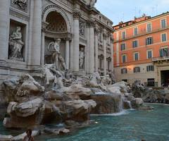 Passing By The Trevi Fountain...  http://buff.ly/1hhUOEf  #Rome #Roma #Trevi #Trevifountain #Italy #summer #tour_italy