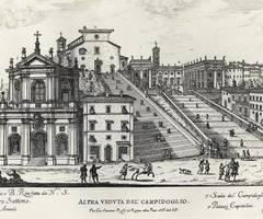 Too bad we can not enjoy this view anymore. Capitoline Hill in 1655 photo by Musei in Comune Roma http://buff.ly/1X2AVSB #Rome #photo #Capitoline #Campidoglio #Italy