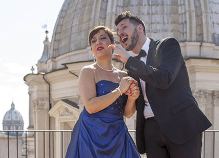 Open Air Opera Aperitif At Terrazza Borromini