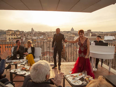 Rooftop Bar Opera Show The Great Beauty In Rome